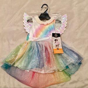 Rainbow Princess Unicorn Dress w/ Wings and Horn